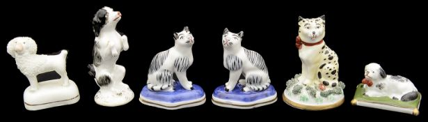 A small collection of 19th century and later British and Continental porcelain animal figures