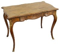 A 19th century Louis XVI style rosewood and ormolu mounted card table