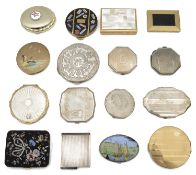 A collection of ladies vanity compacts,