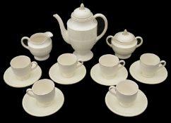 A Wedgwood of Etruria creamware Edme pattern six setting coffee service