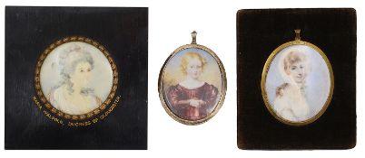 Three portrait miniatures. English School
