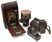 A Jules Richard No.7 Verascope and a No 2 A Folding Kodak Model B camera