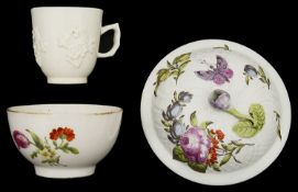 An 18th century Bow white glazed porcelain coffee cup c.1755