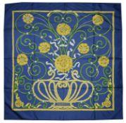 A vintage Hermes 'Jouvence' silk scarf designed by Leila Menchari