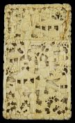 A 19th century Cantonese ivory card case