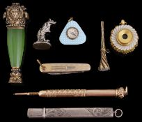 An interesting collection of 19th century and later silver and other vertu