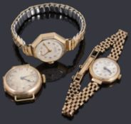 A 9ct gold ladies Rotary mechanical bracelet watch
