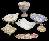 A collection of early 19th century porcelain to include comports