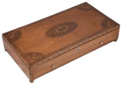 A George III satinwood and marquetry artists box c.1800