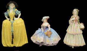 Three Royal Doulton porcelain figures