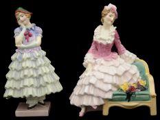Two Royal Doulton porcelain figures