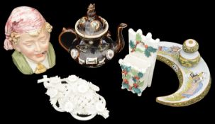 A small varied collection of 19th century and later ceramics