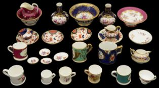 A collection of early 19th century century and later porcelain miniatures