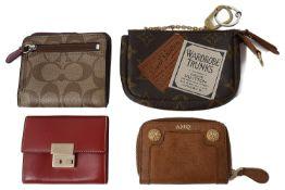 Four designer wallets