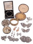 A collection of costume jewellery and silver jewellery