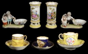 A selection of 19th century and later porcelain to include Meissen
