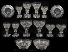 An extensive 19th century part suite of cut table glass