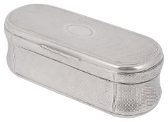 A William IV silver engine turned table snuff box
