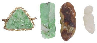 A collection of jade and hardstone items