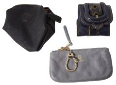 Three designer wallets