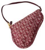 A Christian Dior vintage mini trotter saddle handbag