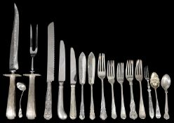 A mixed lot of silver flatware