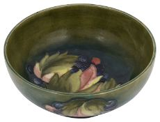 A Moorcroft 'Leaves and grapes' small bowl
