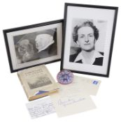 A typed signed letter by Clementine S. Churchill: (1885-1977) and other related items