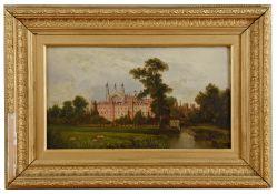 English school 'View of Eton College' 19th century, oil on board