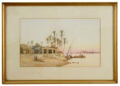 Spyridon Scarvelli (Greek, 1862-1944) 'Cairo' watercolour