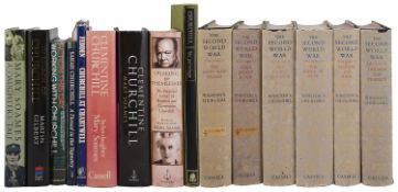A collection of mostly first edition biographies and other books relating to the Churchill family