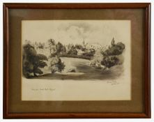 Hanslip Fletcher (British 1874-1955) 'View from Causton Road, Highgate', pencil and watercolour
