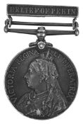 A Vict. China War Medal with Relief of Pekin bar awarded to 4358 Pte J Gould 2/Royal Welsh Fusiliers