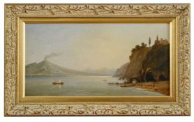 English school, 'View of the Bay of Naples and Vesuvius' 19th century