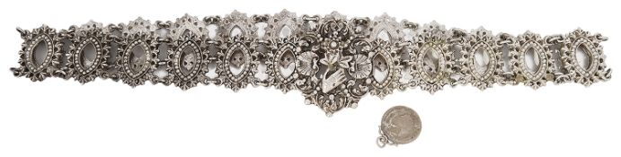 An early 20th Century silver Southeast Asian belt possibly Malaysian