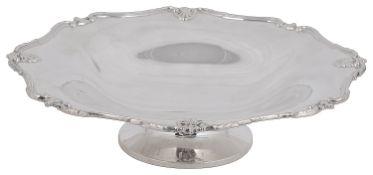 A George V silver pedestal dish