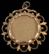 A Victorian sovereign dated 1899