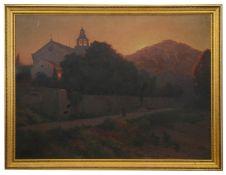 Alexei Vasilievich Hanzen (Russian 1876-1937) 'Church in Dubrovnik'