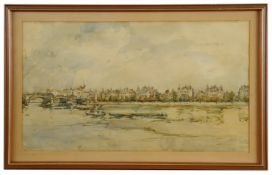 Janet Simpson (British, 1904-1935) 'London town' watercolour