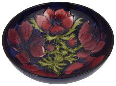 A Moorcroft 'Anemone' bowl