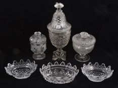 A collection mostly early 19th century cut glass