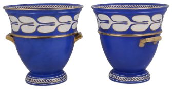 A pair of mid 19th century Copeland & Garrett 'New Blanche' twin handled urns or coolers c.1840