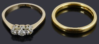A 22ct gold wedding ring