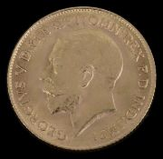 A George V half Sovereign dated 1915