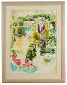 Nicholas Uff (Modern British) 'Mapperton Gardens', watercolour