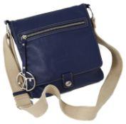 A Coccinelle blue leather handbag