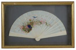 A 19th century ivory fan