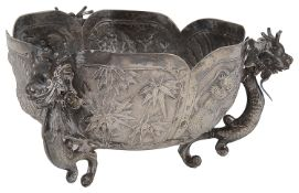 A late 19th/early 20th century Chinese export silver bowl c.1900
