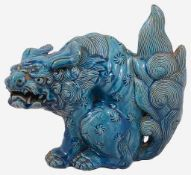 A 19th century Chinese turquoise glazed Dog of Fo