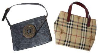 Burberry Haymarket check tote handbag and A Moschino 'Cheap and Chic' handbag